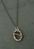Sterling & 14kt Goldfilled Oval Wire Wrapped Necklace