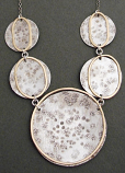 Sterling Disc w/ 14kt Goldfilled Circles Necklace