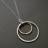 Sterling & 14kt Goldfilled Rings Necklace