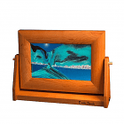 Moving Sand Art Cherry Wood Ocean Blue Sm.
