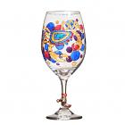 Crab Hand Painted Glassware