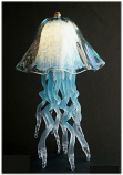 Jellyfish Table Lamp Aqua Double Dome 10 Colors