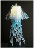 Jellyfish Table Lamp Aqua Double Dome 10 Colors