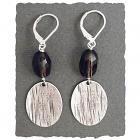 Smoky Quartz & Sterling Silver Earring