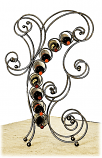 Bolero Wine Rack by Iron Chinchilla Clear Available in 7 Finish Colors