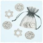 Star of David pocket charms 5 Pieces Per Bag