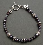 Amethyst & Lilac Pearl & Beaded Sterling, Bracelet