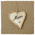 Mom Heart Sterling Pendant Necklace