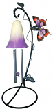 Belle Fleur Solar Chime Purple