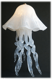 Jellyfish Table Lamp White Single Dome 10 Colors