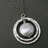 Pearl Sterling Silver Rings Necklace