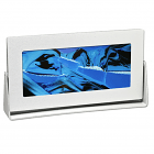 Moving Sand Pictures Silver Rectangle Ocean Blue