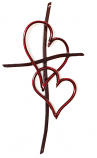 Walk in Love Cross Unity Wall Cross | 4 finishes 2 sizes