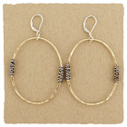 14kt Goldfilled Oval w/ Oxidized Wire Wraps Earring