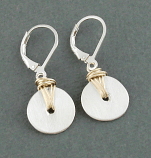 Sterling Disc w/ Goldfilled Wrap Earring