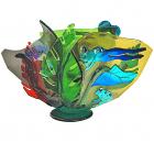 Frog Wave Fused and Slumped Vase