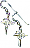 Promise Cross Earrings Sterling Silver by Patrick Neuwirth