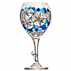 Sand Dollar Hand Painted Wine Glass