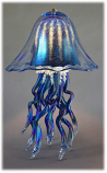 Jellyfish Table Lamp Cobalt iridescent Double 10 Colors