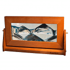 Art In Motion Cherry Wood Arctic Glacier Clear Med.