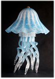 Jellyfish Single Dome Table Lamp Aqua 10 Colors