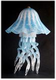 Jellyfish Single Dome Table Lamp Aqua 10 Colors