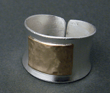 Sterling w/ 14kt Goldfilled Sq Ring