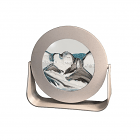 Silver Metal Round Arctic Clear Sand Pictures