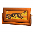Cherry Wood Moving Sunset Orange Sand Pictures Med
