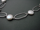 Pearl Sterling Organic Loop Necklace