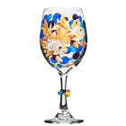 Fancy Koi Fish Hand Painted Wine Glass