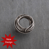 Sterling Oxidized Coil Ring
