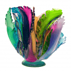 Multi Coral Wave Vase