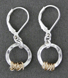 Sterling Silver & 14kt Goldfilled Handwrapped Earring