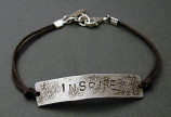 Sterling 'INSPIRE' on Brown Cord