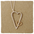 Heart Necklace Silver and 14k Gold Filled by J & I