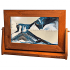 Moving Sand Picture Arctic Glacier Clear Alder Frame  Lg.