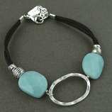 Amazonite Sterling Oval Bracelet