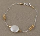 Pearl Sterling & 14kt Goldfilled Elegant Bracelet