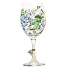 Mermaid With Dolphin Wine Glass
