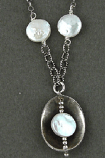Pearl Cupped Sterling Silver Necklace