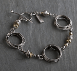 Sterling w/ 14kt Goldfilled Accents Coil Bracelet