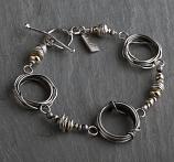 Sterling w/ 14kt Goldfilled Accents Coil Bracelet
