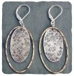 Sterling Silver & 14kt Goldfill Oval Earring
