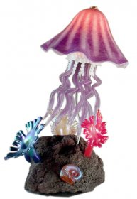Reef Sculpture Jellyfish Lamp in 10 Colors Handcrafted Art Glass