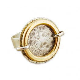 Sterling Disc w/ 14kt Goldfilled Circle Ring