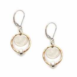 Sterling Bead on 14kt Goldfill Earring