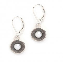 Pearl Nesting in Sterling Cup Earring