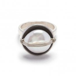 Pearl Wrapped Sterling Ring