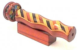 "Wood Kaleidoscope w/ Wide Stripe w/ 2"" Wheels  5 1/2"